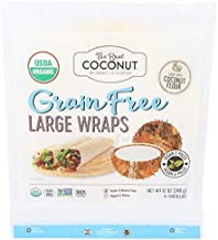 The Real Coconut, Wraps Coconut Flour Organic 6 Count, 12 Ounce