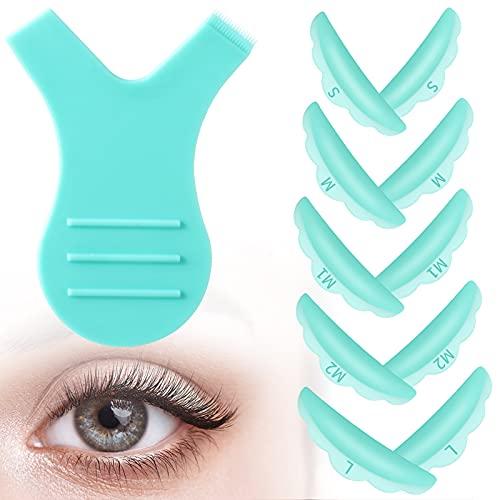 Loopeer Y-Shaped Eyelash Brush Silicone Eyelash Lift Pads Makeup Utensil Reusable Lash Lifting Shield Pads Supplies Eyelash Perming Tool Set for Women