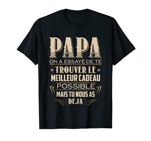Papa T-shirt Fête Des Pères Cadeau Papa Anniversaire Père T-Shirt