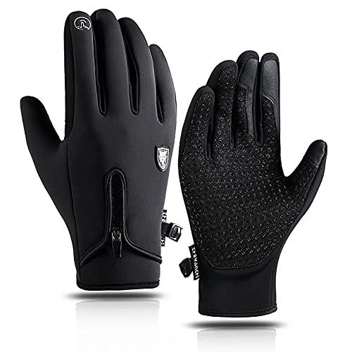 Shulltji Handschuhe Herren Damen rutschfest Touchscreen Fahrradhandschuhe Winddicht Wasserdicht laufhandschuhe Thermo Winterhandschuhe Outdoor Sporthandschuhe