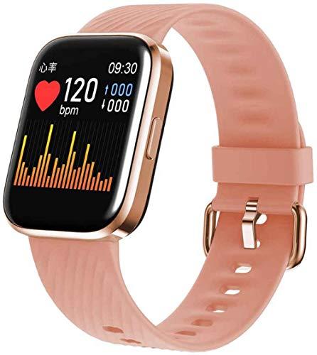 SNFHL Fitness Tracker, wasserdichte Smartwatch, mit Herzfrequenzmesser/Pulsoximeter/Blutsauerstoffmonitor/Blutdruckmonitor,Pink
