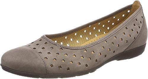 Gabor Shoes Damen Casual Geschlossene Ballerinas, Braun (Wallaby), 39 EU