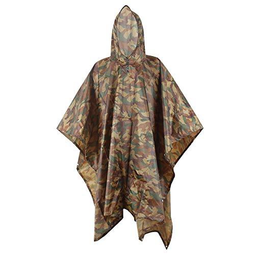 Poncho Pluie Imperméable Grand Camouflage Fleurs avec Sac de Rangement pour Femmes Hommes