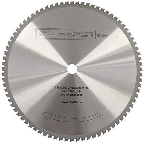 HM Kreissägeblatt 355 x 25,4 mm 80Z Universal für Metall und Kunststoff, hartmetallbestücktes Sägeblatt für viele unterschiedliche Anwendungen