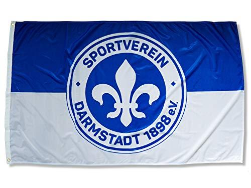 Sportverein Darmstadt 98 Fahne - Hissfahne Schwenkfahne Flagge mit Ösen - 150x90cm - Original Lizenzprodukt