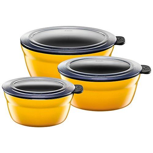 Silit 2134291671 Fresh Bowls-Set 3-teilig, crazy yellow