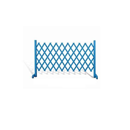 FEIYUGN Retractable Gate Expanding Fence, Wood Decorative Wooden Fence Pet, Trellis Picket Grass Lawn Flowerbeds, 170x70cm Blue FEIYU