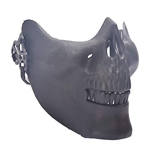 RCFRGV Halloween masker dames Mouth Mask - Solid Colored Black & White, Mesh
