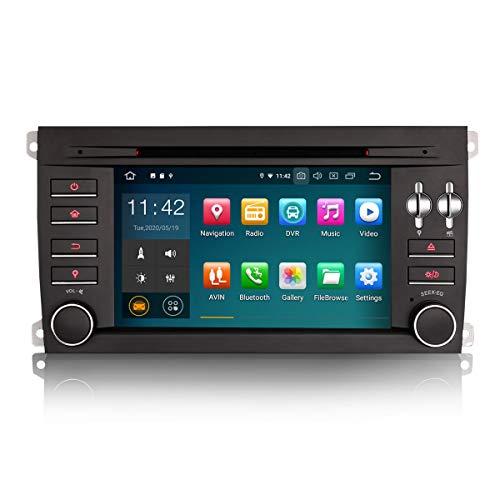 ERISIN 7 Zoll Android 10.0 Autoradio für Porsche Cayenne Multimedia Player mit GPS-Navi Unterstützt Carplay Android Auto Bluetooth A2DP WiFi 4G DAB + RDS Mirror- Link TPMS 2GB RAM + 16GB ROM