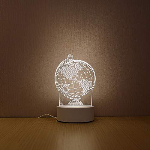 Creative Globe Earth Weltkarte 3D LED Nachtlicht Neuheit Illusion Tischlampe Junge Mädchen Studenten Schlafzimmer Nacht Büro Kinder Geschenk Home Decor
