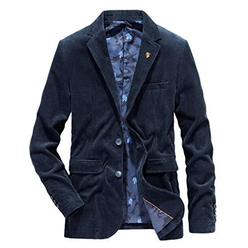 Zolimx-Giacca Uomo in Pile Blazer Uomo Elegante per Blazer da Uomo, Abito da Uomo Velluto a Coste Giacche Casuale Caldo Blazers Doppiopetto Retro Giacca Cappotto