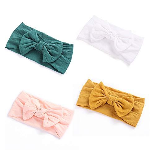 Befitery Cinta para el pelo para bebé, diseño de mariposas, 15,5 x 8 cm Combinación 2 Verde + Blanco + Rosa + Amarillo Talla única