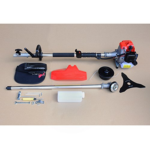 Wotefusi Arbre Droit String Trimmer 2-Cycle Gas Brush Cutter Pelouse Weed Eater
