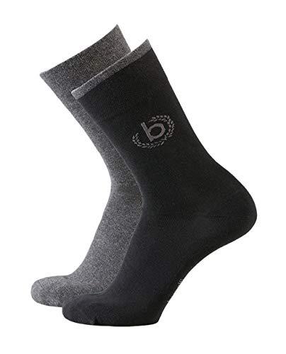 bugatti Mens Icon Socks 2er Pack 6762 610 black schwarz Strumpf Socke Doppelpack, Größe:43-46