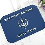 N/A Elegante Ancla náutica Barco Azul Marino Rayas...