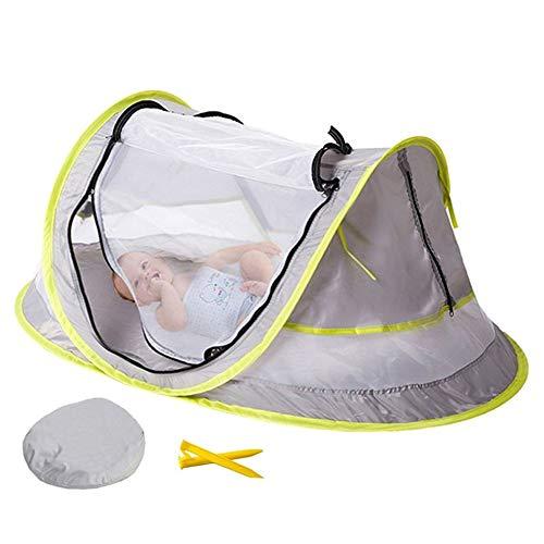 BEST VAN BESTE Draagbare Baby Travel Tent Bed Pop Up Camping Crib Beach Home Sun Shade met 2 Pegs voor muggenbescherming, bescherming tegen de zon, UV 50+ bescherming