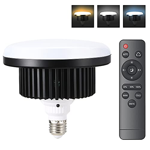 Bombilla LED Dimerable para Softbox Equipo de Iluminación Estudio Fotográfico 150W E27 Luz de Fotografia con Control Remoto para Fotos de Comida, Retrato, Transmisión en Vivo