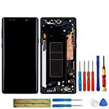Swark Super AMOLED Display Compatible with Samsung Galaxy Note 9 N960U N950F LCD Touch Screen Digitizer Assembly with Frame (Black) + Tools
