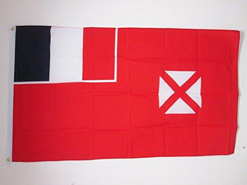 AZ FLAG Flagge Wallis UND Futuna 150x90cm - Wallis ET Futuna Fahne 90 x 150 cm - flaggen Top Qualität