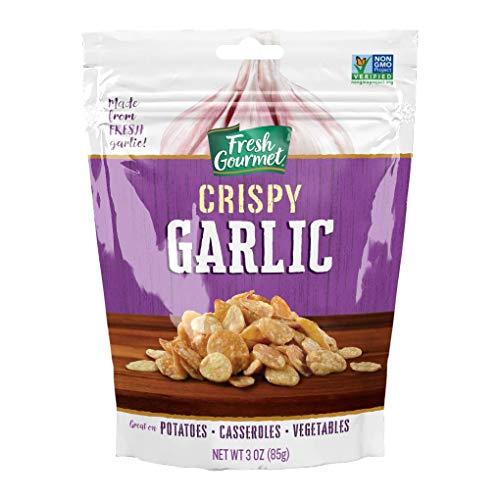 Fresh Gourmet Crispy Garlic, Lightly Seasoned, 3 Ounce (Pack of 6)