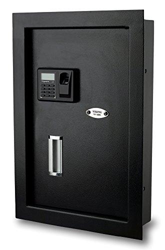 powerful Viking Security Safe VS-52BL Biometric Hidden Wall Safe with Fingerprint