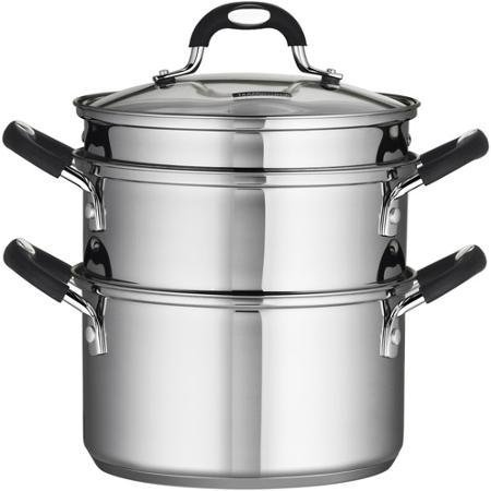 Tramontina 18/10 Stainless Steel 4-Piece 3-Quart Steamer/Double-Boiler by Tramontina