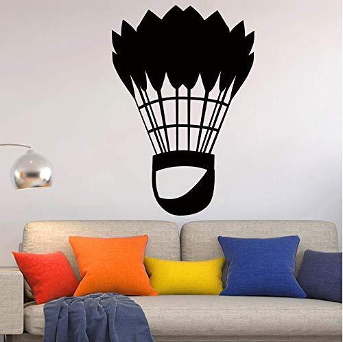 Wandaufkleber Klassische Badminton-Sportkunst Für Wohnkultur Wohnzimmer Wanddekoration Aufkleber Tapetenwandbilder 58 * 85Cm Wandaufkleber
