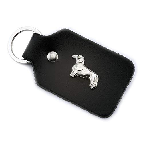 Monkimau Schlüsselanhänger Dackel Hund aus Leder