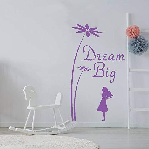 xinyouzhihi Dream Big Kindergarten Vinyl Wandtattoo Dekoration Zubehör Für Wohnzimmer Wandaufkleber Für Kinderzimmer Tapete 42x75 cm