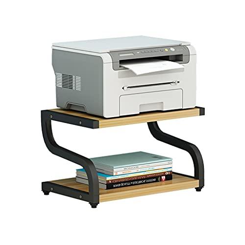 MYHZH Estante multifunción para Impresora, copiadora, escáner, Estante con Almohadillas Antideslizantes para Almacenamiento de Organizador de Escritorio,Horno microondas en Maceta