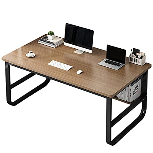 Escritorio de computadora industrial con estante de almacenamiento 47,2 pulgadas Estación de trabajo de mesa de escritura de estudio Escritorio del ordenador portátil de la PC para la oficina en casa