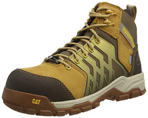 Cat Footwear Induction NT S1P, Botas de Construcción para Hombre, Restablecimiento de Miel, 44 EU