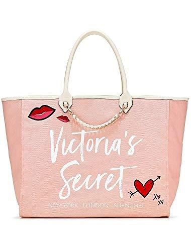 Victoria's Secret Angel City Tote, Light Pink/Heart