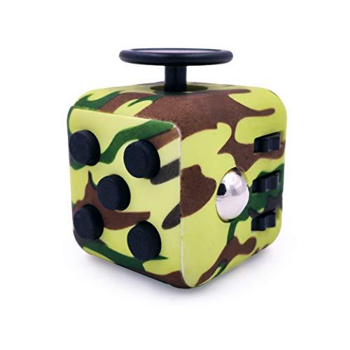 GreenBee Fidget Cube Anti Stress Enfant Adulte - Fidget Toys Objet Anti Stress Anxiété - Jouet De Decompression avec 6 Modules Apaisants (Vert)