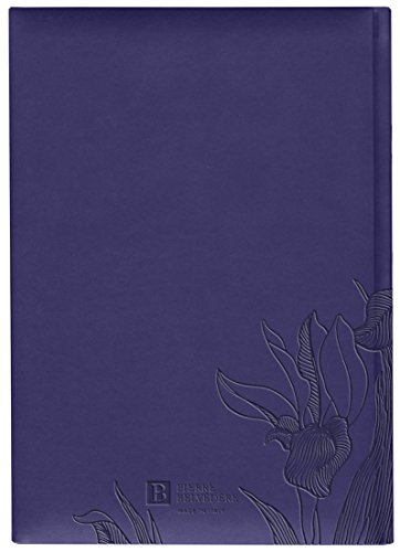 Pierre Belvedere Iris Collection Large Hardcover Notebook with Padded Embossed Cover, Blue Violet (7706310) Photo #2