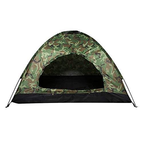 ROSEBEAR Tienda de campaña al aire libre con protección UV impermeable de camuflaje tienda de campaña de una persona para acampar senderismo