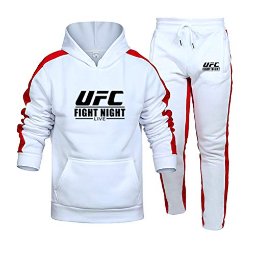 Sweat à Capuche Imprimé Costume Sweatshirt White MMA Fitness