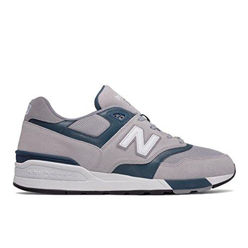 New Balance - Zapatillas de Piel para Hombre Gris Bianco 43.0