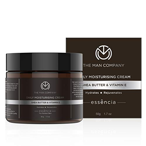 The Man Company Daily Moisturising Cream With Shea Butter And Vitamin E For All Skin Types (50 Gm) | Made in India