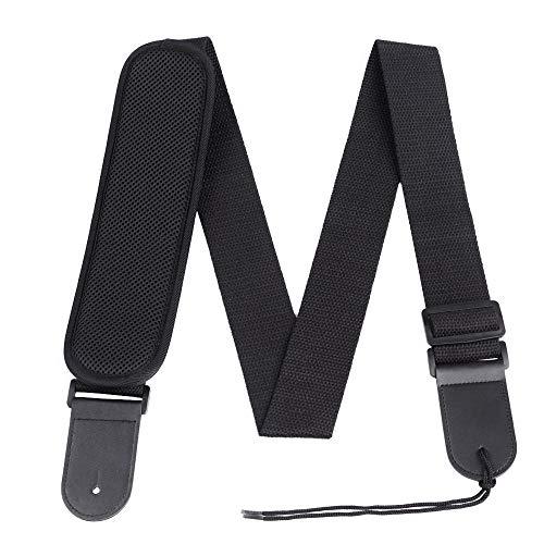 Rayzm Gitarrengurt, verstellbarer Baumwollgurt für akustische / elektrische / Bassgitarre, mit Schulterpolsterdruckablass für komfortables Spielen