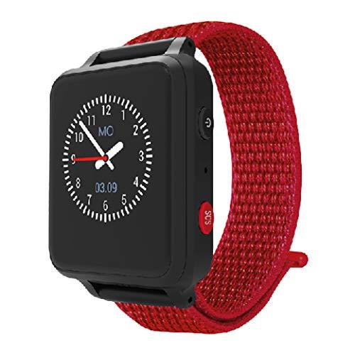 ANIO 5 (rot) - 1.3 Zoll Touch-Farbdisplay - IP67 wasserdichte Telefon Uhr für Kinder - Anrufe, Nachrichten, Schulmodus, SOS-Funktion, GPS, Schrittzähler, Wetter App - Made in Germany DSGVO konform