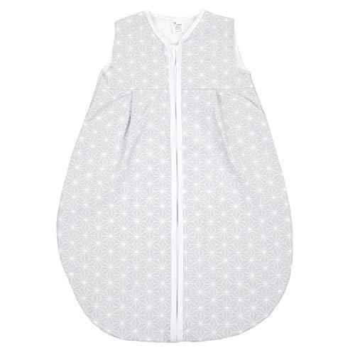 TupTam Baby Sommer Schlafsack Ärmellos Unwattiert, Farbe: Rosette Grau, Größe: 80-86