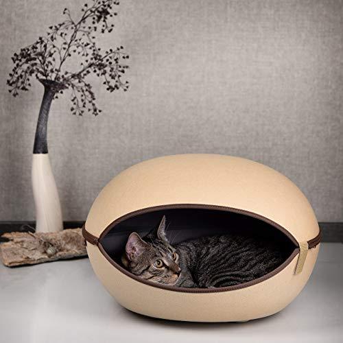 CanadianCat Company ® | Katzenhöhle, Katzenest in Camelfarben - das Katzenbett mit Stil