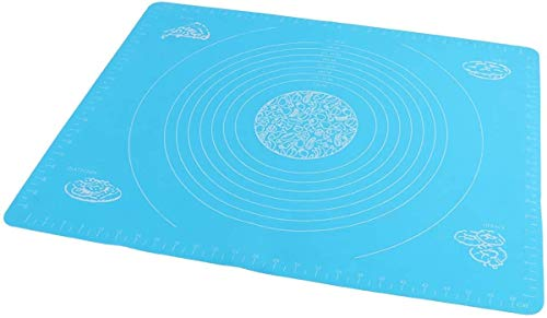 HengKe Silicone Baking Mat Size for Pastry Rolling with Measurements Table Placemat Pad Pastry Board, Reusable Non Stick Silicone Baking Mat for Housewife Cooking Enthusiasts