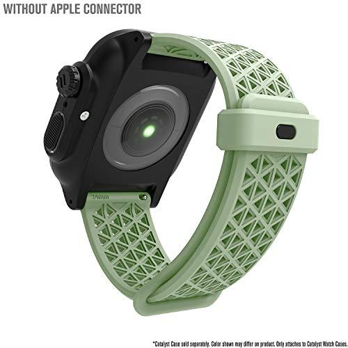 Catalyst Sport Band per Apple Watch Series 4-44mm-, Serie 3,2,1-42mm-, Ipoallergenico, Sgancio rapido, Compatibile con Le Casse, connettori per Altre Marche Non Incluse, Fosforescente