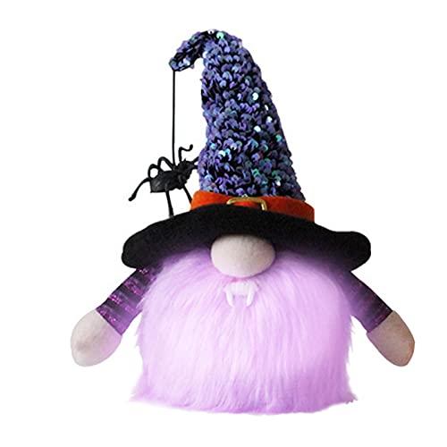 Smaler Nuevas Decoraciones para Ghost Festival, Adornos Enanos con Luces, Resplandor de Halloween, muñecos sin Rostro