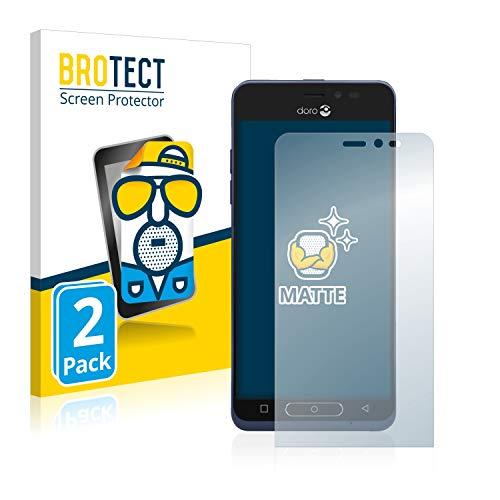 BROTECT 2X Entspiegelungs-Schutzfolie kompatibel mit Doro 8035 Bildschirmschutz-Folie Matt, Anti-Reflex, Anti-Fingerprint