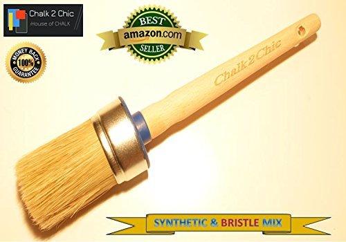 #BB45, 45 mm, motivo: pure PLUS-Gesso-Vernice con setole sintetiche stile SHABBY CHIC furniture-Pennello per pittura, 5 cm