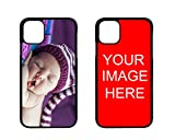 D sticky company Custom Phone Case for iPhone, Make Your Own TPU Rubber Phone Cases, Personalized with Photo Image Text Picture Design, Gifts for Birthday Xmas Valentines (iPhone 12 Mini)