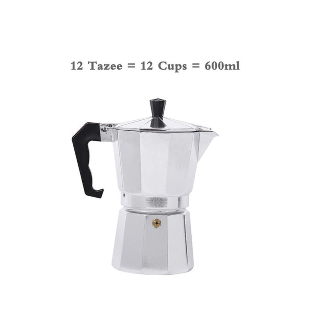 kbxstart Cafetera Italiana para café expreso Moka Cafeteira Expresso para 3 Tazas, 6 Tazas, 9 Tazas, 12 Tazas: Amazon.es: Deportes y aire libre